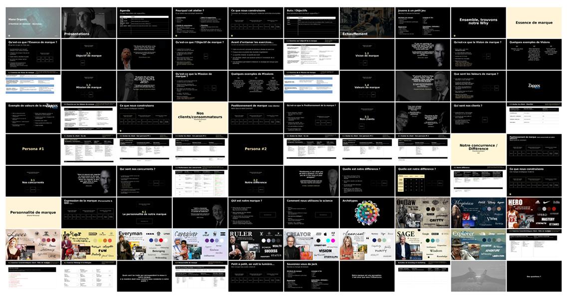 Extrait des slides du workshop intensif